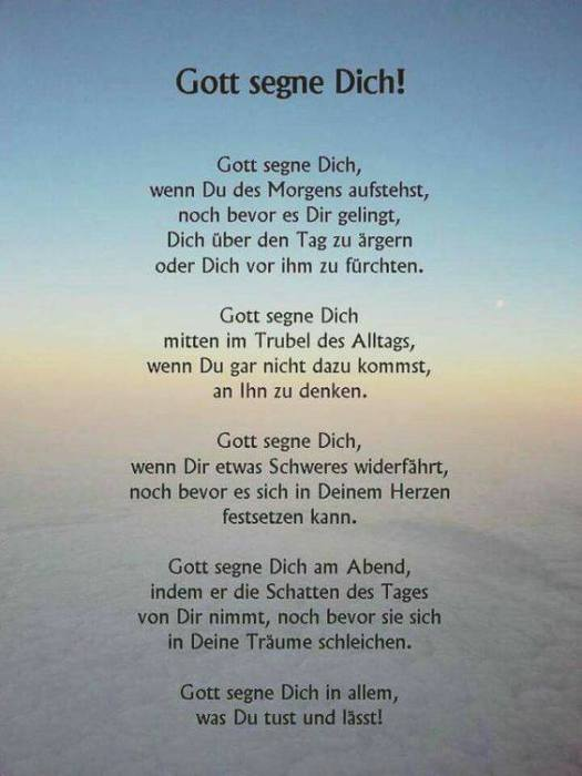 Gott segne dich